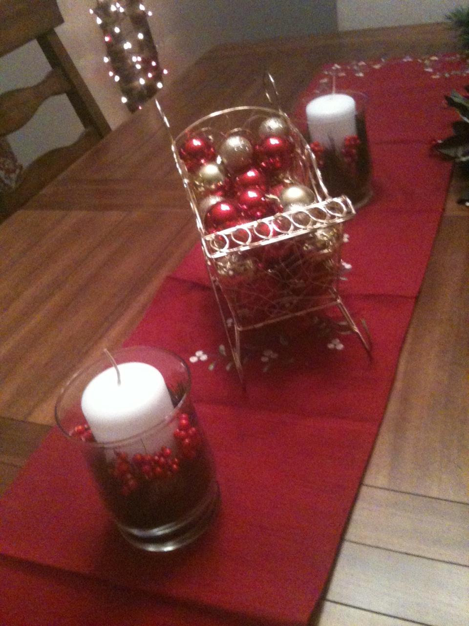 A Cheap Christmas Centerpiece Salted Chocolate Life