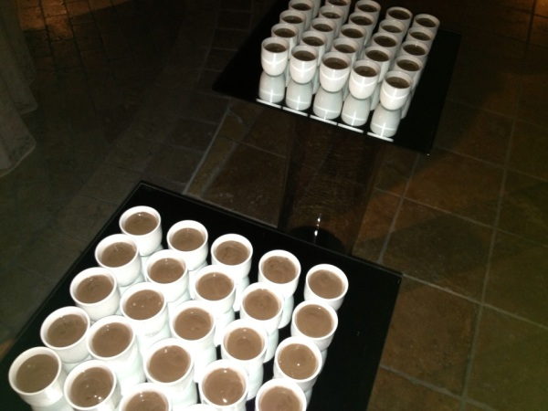 chocolate shots at chocolate party