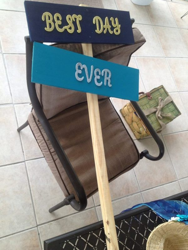 best day every wooden sign